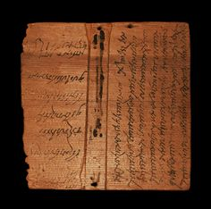 Roman Tablet Recording the Sale of the Slave Girl Victoria, Dated 19th May, 274 ADA wooden tabula with and handwritten ink text recording the sale of a ten-year-old slave girl; a rare and exceptional legal document, providing a fascinating insight...