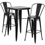 Indoor-Outdoor Metal Bar Height Table and Barstool Sets | RestaurantFurniture4Less.com