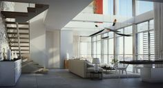 Home Interior Interior Design White Furniture Warm Living Room In All White Color With High Ceiling Designed And High Glass Wall Elegant White Color Interior House In Jerusalem