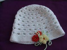cappello bimba cotone fiori uncinetto di maglieriamagica su Etsy, €18.50