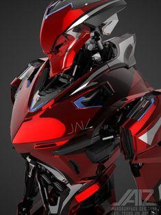 Mysterious as he is skilled. Arte Ninja, Arte Robot, Robot Concept Art, Armor Concept, Character Concept, Character Art, Character Design, Guerrero Dragon, Mecha Anime