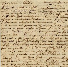 Letter of pianist and composer Muzio Clementi to his father Nicolo.