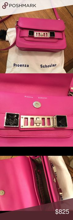 Authentic Proenza Schouler PS11 Crossbody Bag Authentic Proenza Schouler PS11 amazing pink bag , can be used as crossbody . In mint condition used under 7 times . No trades comes w Dustbag . Proenza Schouler Bags Crossbody Bags