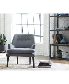 Abbott Fabric Chair, Quick Ship | macys.com