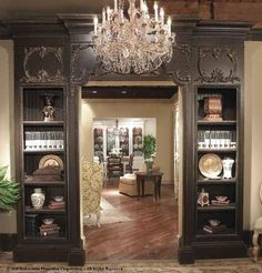 "Habersham Home | Doorway / Bookcases - 48"", 42"", 36"" - Multiple finishes & distressing options available"