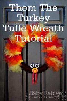 Thom The Turkey Wreath Tutorial