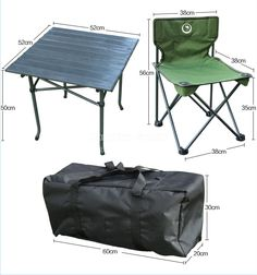 Folding Portable Picnic Chair and Table Set