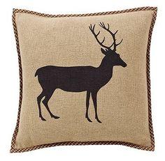 """Barrington Burlap Pillow 16"""" Filled"""