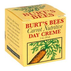 Burts Bees Carrot Nutritive Day Creme, 2-Ounce Jar  (Pack of 2) by Burts Bees, http://www.amazon.com/dp/B001E725XI/ref=cm_sw_r_pi_dp_FrULrb0NPT2P0
