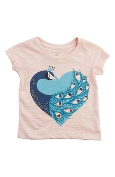 Peek 'Peacock' Graphic Tee (Baby Girls) available at #Nordstrom