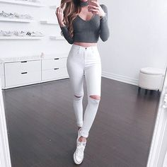 Top and jeans from @fashionnova ❤️️xokerina for 15% off! Off to ! #kerinaootd #fashionnova