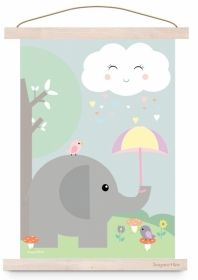 Poster Olifantje  https://www.aapje4kids.nl/inrichting-accessoires-babykamer-kinderkamer/posters-decoratie-babykamer-kinderkamer/poster-olifantje-wolkje