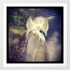 Horse's Ears Art Print by Mirande | Society6