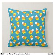 Halloween Candy Corn Throw Pillow Halloween Pillows, Halloween Candy, Candy Corn, Custom Pillows, Party Hats, Art Pieces, Throw Pillows, Make It Yourself, Knitting