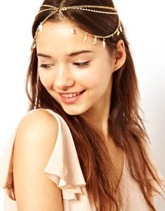 Wholesale Elegant Style Leaf Pendants and Tassel Embellished Multilayer Women's Hairband (AS THE PICTURE), Hair Accessories - Rosewholesale....