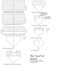 Money Heart Easy Origami