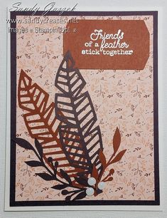 Oct 2018 Paper Pumpkin - Friends of A Feather Craft Sale, Craft Kits, Stampin Up Paper Pumpkin, Pumpkin Cards, Arts And Crafts, Paper Crafts, Native Design, Cards For Friends, Fall Cards