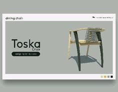 "Check out this @Behance project: ""Toska dining chair"" https://www.behance.net/gallery/58753435/Toska-dining-chair"