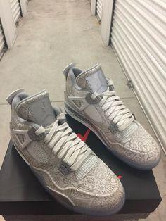 88f6e9437e5 Nike Air Jordan 4 Retro Laser Anniversary Mens Size 10 New In Box 705333  105
