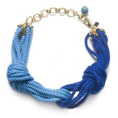 Sequin Cleopatra Rope Necklace, Blue/Turquoise ($30) ❤ liked on Polyvore featuring jewelry, necklaces, accessories, bracelets, blue, women, womens jewellery, long turquoise necklace, adjustable bracelet and long necklace