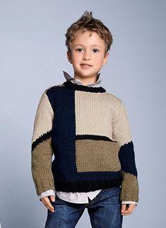 106e133f71 Big Boy Sweater Free Knitting Pattern from Red Heart Yarns