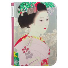 Spring Figure japanese lady woman Kato Shinmei Case For The Kindle