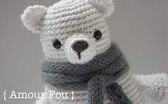 Leopold, the Polar Bear - Free Pattern by { Amour Fou }