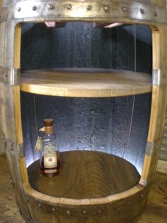 Whiskey Barrel Liquor Cabinet / Bar Reserved For Amyandscuba