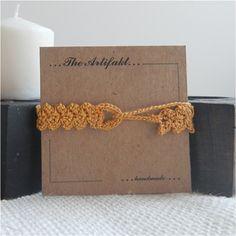 BraceletCrochet Bracelet by TheArtifakt on Etsy,