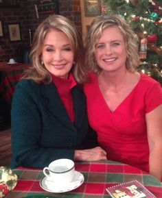 Kayla Brady and Marlena Evans behind the scenes Days of our Lives
