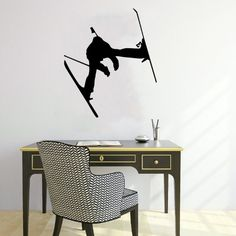 Housewares Wall Vinyl Decal People Sportsman Skier Home Art Decor Kids Nursery Removable Stylish Sticker Mural Unique Design for Any Room Decal House http://www.amazon.com/dp/B00HKEOHLM/ref=cm_sw_r_pi_dp_d-WUtb1DTF8ZZ9X4