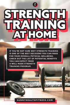If you're not sure why strength training is one of the best decisions you can make for your overall physical wellbeing. Check out the list of potential benefits you can expect from a well-made strength training program. #sunnyhealthfitness #strengthtraining #strength #athome #fitness #strengthprogram #trainingprogram