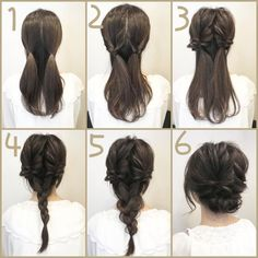 Wedding Hairstyles Medium Hair Updos for medium hair 75 - Updos for medium hair 75 Braided Hairstyles Updo, Up Hairstyles, Easy Wedding Hairstyles, Easy Braided Updo, Easy Formal Hairstyles, Easy Diy Hairstyles, Nurse Hairstyles, Braids Easy, Easy Chignon