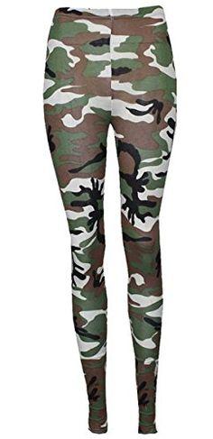 Thever Women Ladies Girls Elastic Waist Camouflage Army Print Legging Trouser Tights Size 8-22 (UK (12-14) US (10-12), White) Thever http://www.amazon.com/dp/B00RPK7BLO/ref=cm_sw_r_pi_dp_Bonewb096B7J3