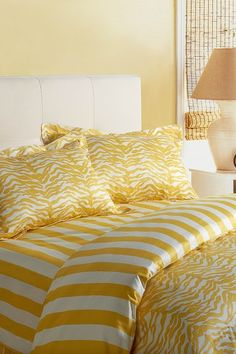 Charlie Kenya 3 Piece Queen Size Duvet Set - Spectra Yellow/Off White by Image By Charlie Bedding & Accents on @HauteLook