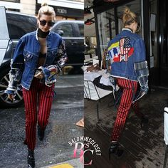 March 1, 2017 - #HaileyBaldwin got spotted shopping in Paris a few days ago. Her #Blackfist Denim Jacket is sadly not available for purchase but she looked absolutely stunning during Paris Fashion Week. Definitely one of my favorite outfits.  Check out #baldwinscloset.com for more info!