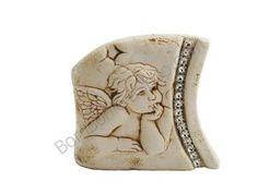 Favoloso bassorilievo dell'angelo di Raffaello, con strass laterali... ideali per classiche e bellissime bomboniere