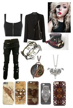 """Steampunk #3"" by davinaespinosa ❤ liked on Polyvore featuring Floyd, WearAll, McQ by Alexander McQueen and Casetify"