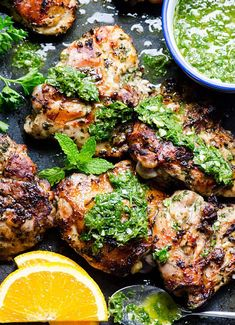 Grilled Chicken Chimichurri is flavourful and requires minimum marinating time because you can just top it with more chimichurri sauce, duh. | ifoodreal.com