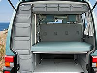 "UTILITIES  VW T4 for roof storage box and rear wardrobe, ""Classicgrey""."