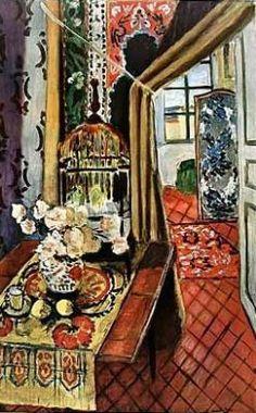 """""""Intérieur avec fleurs"""", Henri Matisse"""
