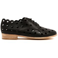 Cashmere Sweaters, Fashion Shoes, Black Leather, Lace Up, Footwear, Scalloped Edge, Skorts, Sandals, Detail