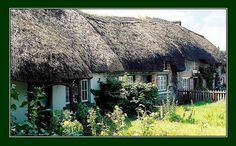 Old Thatched roof Irish Cottage