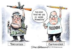 Powerful cartoon from Dave Granlund on the Paris terror attack today.