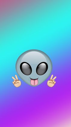 Alien - Tap to see more super fun emoji wallpapers! - @mobile9