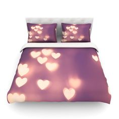 """Beth Engel """"Your Love is Electrifying"""" Cotton Duvet Cover"""