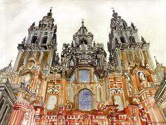 Santiago de Compostela The Astonishing Architectural Watercolors of Maja Wronska • Page 8 of 10 • BoredBug