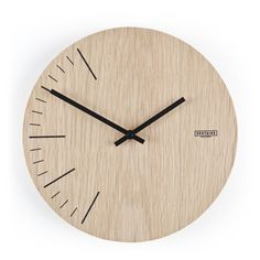 Wall clocks are made from premium Oak plywood with the design digitally printed directly on the plywood in durable, non-fading pigment ink. Each piece is finished with non-toxic varnish. Wall Clock Wooden, Wood Clocks, Metal Wall Decor, Clock Wall, Office Wall Design, Wall Clock Design, Oak Plywood, Modern Clock, Unique House Design