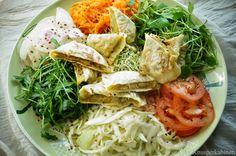 Vegane Maultaschen mit Gemüsefüllung Vegan Vegetarian, Vegetarian Recipes, Food Inspiration, Cabbage, Salads, Spaghetti, Clean Eating, Favorite Recipes, Pasta