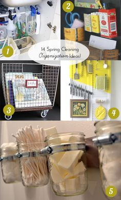 14 Spring Cleaning DIY Organization Ideas from @Chelsey The Paper Mama! Get the full post here: http://www.bhg.com/blogs/better-homes-and-gardens-style-blog/2014/03/06/spring-cleaning-diy-organization-ideas/